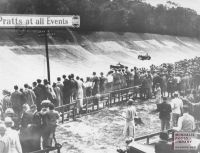 Spectators at Brooklands. Pratts petrol hc306