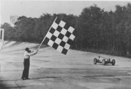 Chequered flag at Brooklands hd225