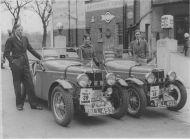 Evans Family RAC Rally M.G.s he224