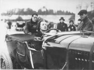 Margaret Allen in a Bentley hj4