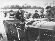 Margaret Allen in a Bentley hj4