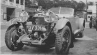 A Mercedes in the Brooklands paddock hm121